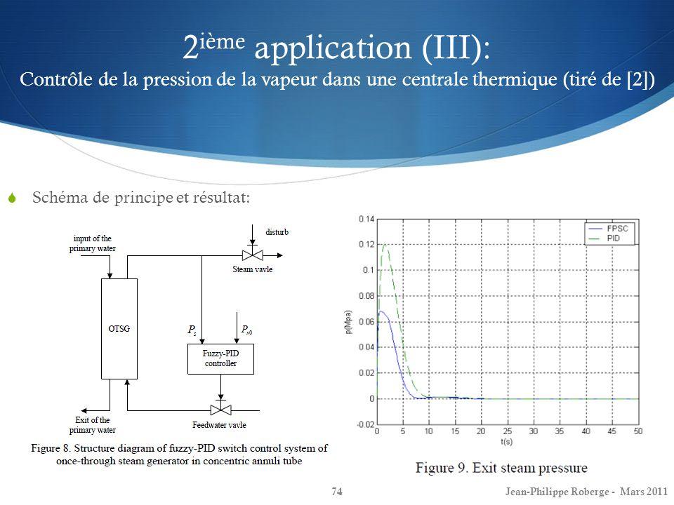 2ième application (III): Contrôle de la pression de la vapeur dans une centrale thermique (tiré de [2])